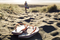 Beach Thongs Stock Images