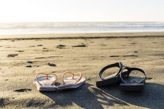 Beach Thongs Royalty Free Stock Photography