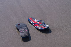 Sommer concept - Beach thongs Stock Photo