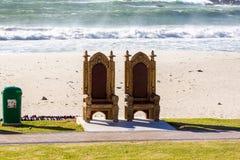 Beach Thrones Royalty Free Stock Photography