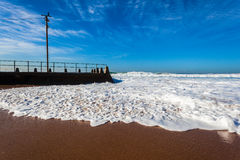 Beach Tidal Pool Wave Surge Wash  Royalty Free Stock Images