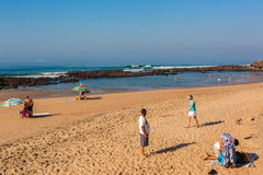 Beach Tidal Rock Pools Holidays Stock Images