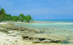 Beach at low tide. Beach at tide on the island of Siargao, Philippines Stock Photography