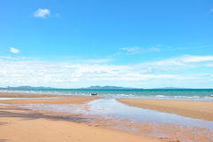 Beach when the tide is low Royalty Free Stock Photography