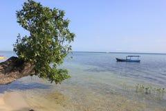 Beach of Tidung Island. Seribu Islands, Jakarta, Indonesia royalty free stock photo