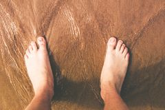 Beach Time Foots Stock Images