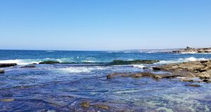Free Beach Time In The Sun And Sand On The Pacific Ocean - La Jolla, California Royalty Free Stock Photography - 201480607
