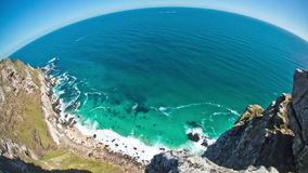 Beach Time Lapse Cape Point Fisheye stock video