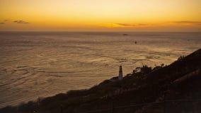 Beach Time Lapse Coastline Sunset. V37. Beach time lapse clip of coastline in Oahu near Waikiki durning sunset stock footage