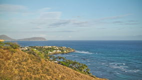 Beach Time Lapse Coastline. V35. Beach time lapse clip of coastline in Oahu near Waikiki stock video