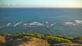 Beach Time Lapse Coastline. V36. Beach time lapse clip of coastline in Oahu near Waikiki stock video footage