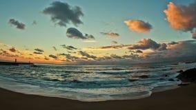 Beach Time Lapse Porto Sunset stock video