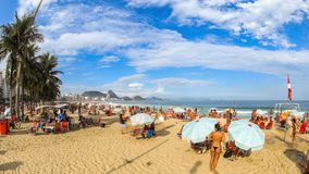Beach Time Lapse Rio Copacabana. V69. Time lapse of many people at Copacabana beach in Rio De Janeiro on March 1st 2014 stock footage
