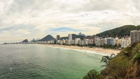 Beach Time Lapse Rio Copacabana Zoom. V66. Zooming time lapse of Copacabana beach in Rio De Janeiro stock footage