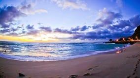 Beach Time Lapse Sunset Fisheye. V20. Beautiful beach time lapse clip during sunset using a fisheye lens stock video footage
