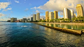 Beach Time Lapse Waikiki. V12. Beautiful beach time lapse clip during sunset of Waikiki stock footage
