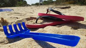 Beach time. Play set on the italian beach Royalty Free Stock Photography