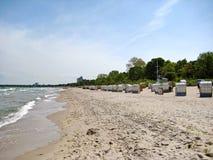 Beach in Timmendorfer Strand, baltic sea, germany Stock Photo