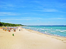 Beach in Timmendorfer Strand, baltic sea, germany Stock Images