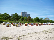 Beach in Timmendorfer Strand, baltic sea, germany Royalty Free Stock Photo