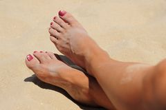 Beach Toes Stock Photos