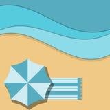 Beach royalty free illustration