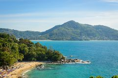 Phuket Beach from top view point, Thailand. Beach from top view point, Phuket island, Thailand Stock Image