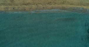 Beach top viewdrone shot stock video footage