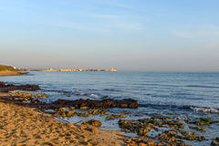 Beach of Torre Canne at dawn (Italy) Royalty Free Stock Photos
