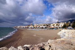 Beach of Torremolinos, Spain Stock Photo