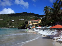 Beach at Tortola island Royalty Free Stock Photography