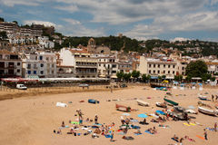 Beach of Tossa de Mar Catalunya Spain Royalty Free Stock Photo