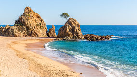 Beach in Tossa de Mar, Costa Brava, Catalonia Stock Photo