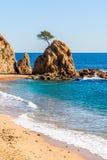 Beach in Tossa de Mar, Costa Brava, Catalonia Stock Images