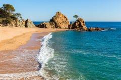 Beach in Tossa de Mar, Costa Brava, Catalonia Royalty Free Stock Photos