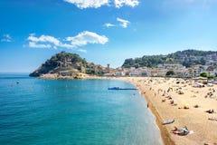 Beach of Tossa de Mar. Costa Brava, Spain Stock Photos