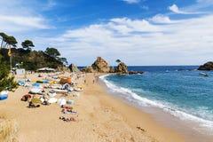 Beach at Tossa de Mar, Spain Royalty Free Stock Photo