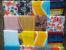 Beach towel. Color beach towel for sale - Bahia - Brazil Stock Photo