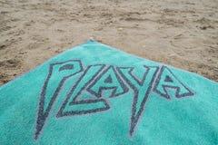 Beach towel. Royalty Free Stock Image