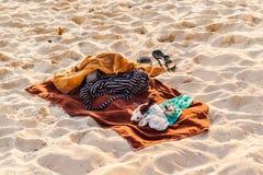 Beach towel Stock Image