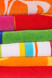 Beach towels Stock Images