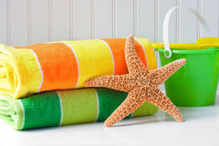 Beach towels Royalty Free Stock Images