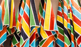 Beach Towels on a Rack Royalty Free Stock Images