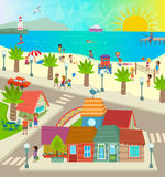 Beach Town Stock Image