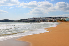 Beach and town of Albufeira, Algarve, Portugal Royalty Free Stock Photography