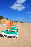 Beach and town of Albufeira, Algarve, Portugal Royalty Free Stock Photos