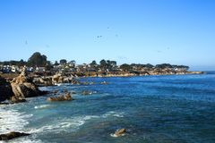 Beach town. Cool afternoon at a beach town on California coast Royalty Free Stock Photo