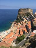 Beach town of Scilla royalty free stock images