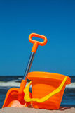 Beach toy set at seaside Stock Image