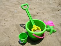 Beach Toys. A set of beach toys royalty free stock images